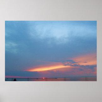 SUNSET ON CAYUGA LAKE poster