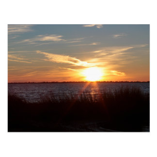 Sunset on Chincoteague Island. Postcard