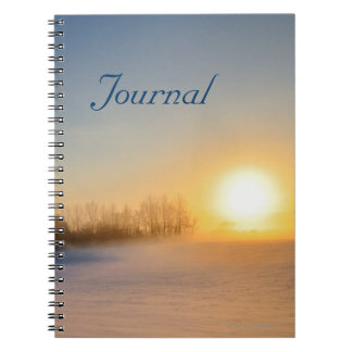 Sunset on Christmas Day in countryside Spiral Notebook