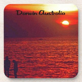Sunset on Darwin Beach Drink Coasters