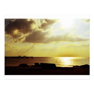 Sunset on DeSoto Postcard