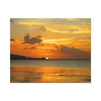 Sunset on East Hagatna bay Canvas Print