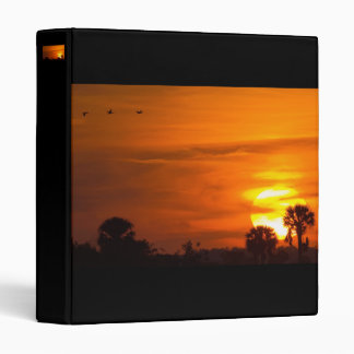 Sunset on Fire 3 Ring Binder