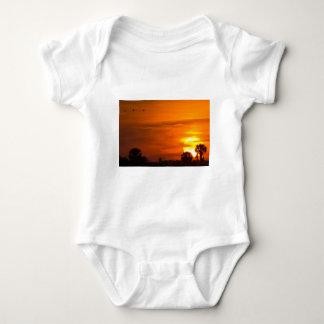 Sunset on Fire Baby Bodysuit