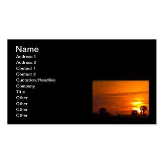 Sunset on Fire Business Card