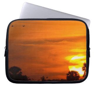 Sunset on Fire Computer Sleeve