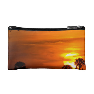 Sunset on Fire Cosmetic Bag
