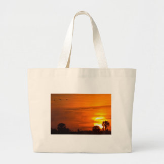 Sunset on Fire Large Tote Bag