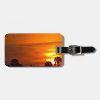 Sunset on Fire Luggage Tag