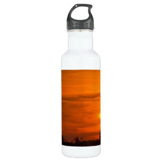 Sunset on Fire Stainless Steel Water Bottle
