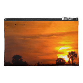 Sunset on Fire Travel Accessory Bags