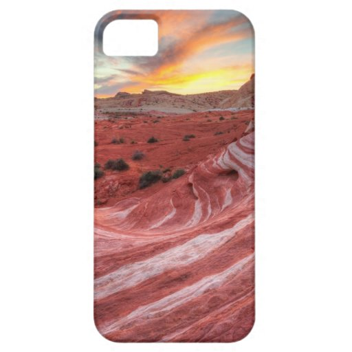 Sunset On Fire Wave iPhone 5 Cases