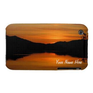 Sunset on Fox Lake; Customizable iPhone 3 Cases