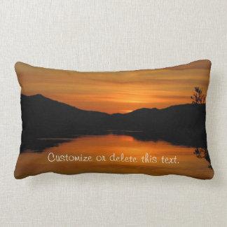 Sunset on Fox Lake; Customizable Throw Pillow