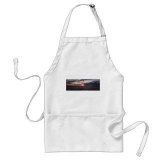 sunset on gitchee gumee adult apron