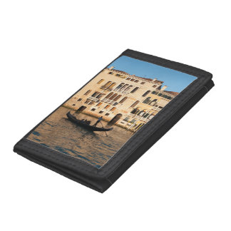 Sunset on Grand canal Venice Italy Trifold Wallet