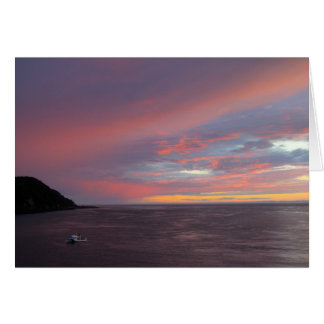 Sunset on Grand Manan Card