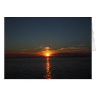Sunset on Grand Manan Greeting Card