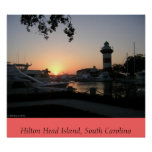 Sunset on Hilton Head Island Poster