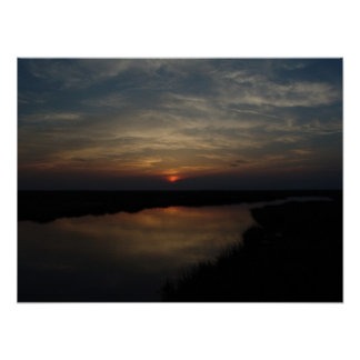 Sunset on Hunting Island Print