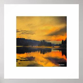 Sunset on Jenkinson Lake Poster