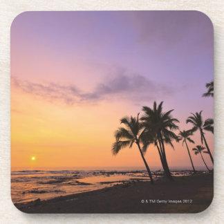 Sunset on Kahaluu Bay in Kona,Hawaii 2 Beverage Coaster