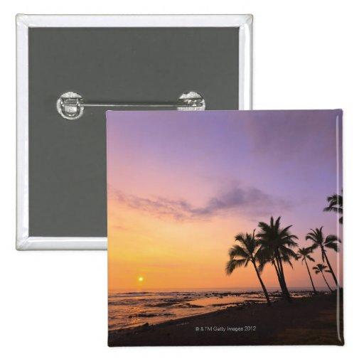 Sunset on Kahaluu Bay in Kona,Hawaii 2 Pins