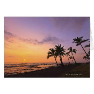 Sunset on Kahaluu Bay in Kona,Hawaii 2 Card
