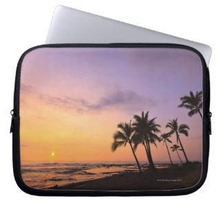 Sunset on Kahaluu Bay in Kona,Hawaii 2 Computer Sleeves