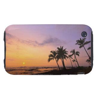 Sunset on Kahaluu Bay in Kona,Hawaii 2 iPhone 3 Tough Covers