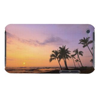 Sunset on Kahaluu Bay in Kona,Hawaii 2 iPod Case-Mate Cases