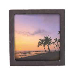 Sunset on Kahaluu Bay in Kona,Hawaii 2 Keepsake Box