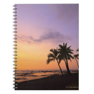 Sunset on Kahaluu Bay in Kona,Hawaii 2 Notebook
