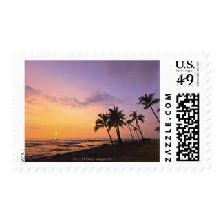 Sunset on Kahaluu Bay in Kona,Hawaii 2 Postage