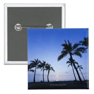 Sunset on Kahaluu Bay in Kona,Hawaii Pin