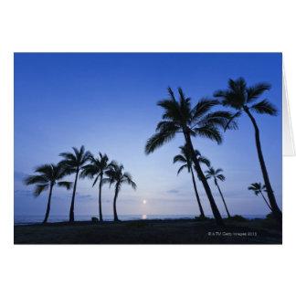Sunset on Kahaluu Bay in Kona,Hawaii Card