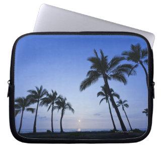 Sunset on Kahaluu Bay in Kona,Hawaii Laptop Computer Sleeves