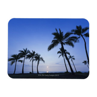 Sunset on Kahaluu Bay in Kona,Hawaii Magnet