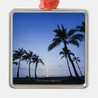 Sunset on Kahaluu Bay in Kona,Hawaii Metal Ornament
