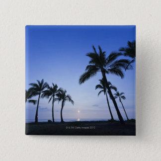 Sunset on Kahaluu Bay in Kona,Hawaii Pinback Button