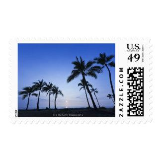 Sunset on Kahaluu Bay in Kona,Hawaii Postage Stamp