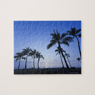 Sunset on Kahaluu Bay in Kona,Hawaii Puzzle