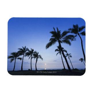 Sunset on Kahaluu Bay in Kona,Hawaii Rectangular Photo Magnet