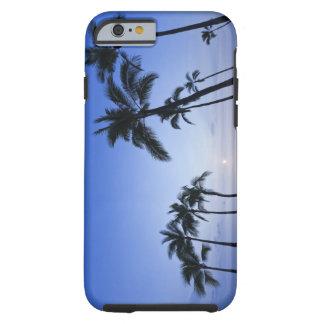 Sunset on Kahaluu Bay in Kona,Hawaii Tough iPhone 6 Case