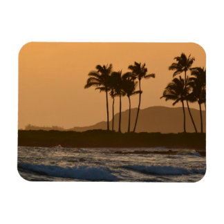 Sunset on Kauai Rectangular Photo Magnet