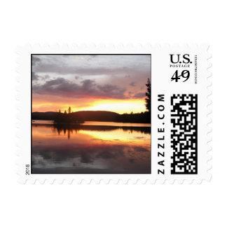 Sunset On Lake Adirondack Postage