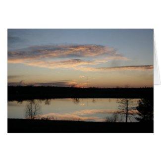 Sunset on Lake Card