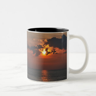 Sunset on Lake Erie Two-Tone Coffee Mug
