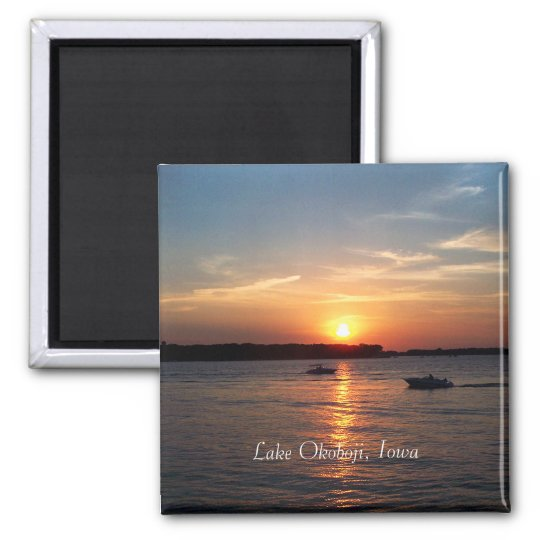 Sunset on Lake Okoboji, Iowa Magnet