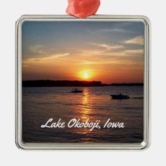 Sunset on Lake Okoboji, Iowa Metal Ornament
